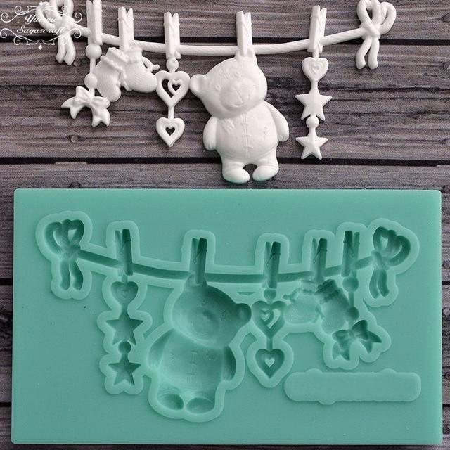 Yueyue Sugarcraft Bear Silicone mold fondant mold cake decorating tools chocolate gumpaste mold
