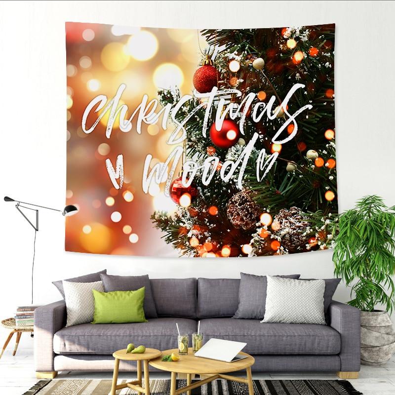 Christmas tapestry beauty landscape Lights high definition