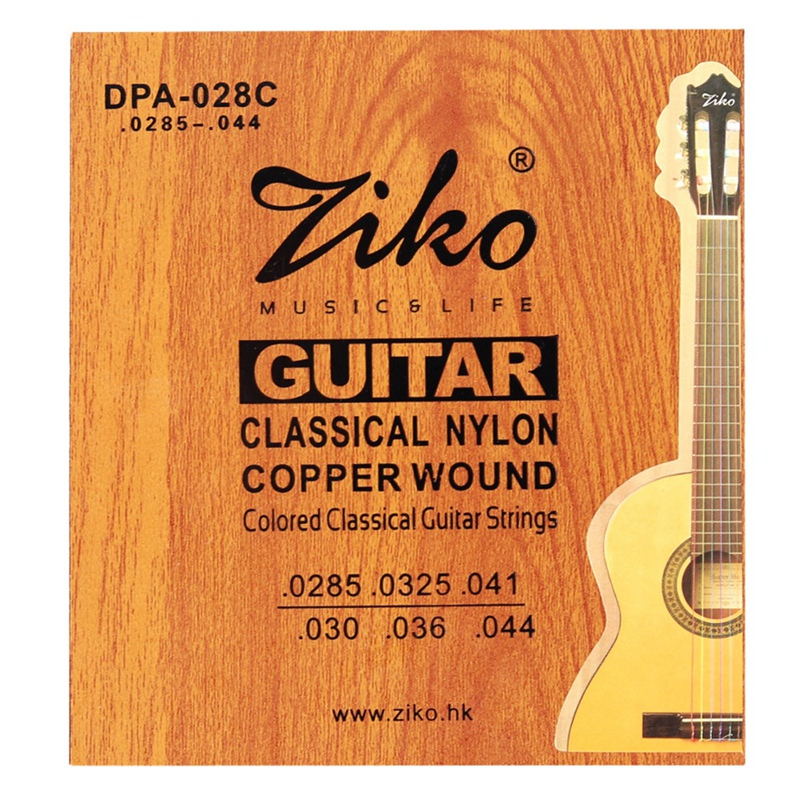 Ziko Dpa-028C Professional Classical Guitar Strings 0285-044 Colorful Nylon Coated C Wound 2