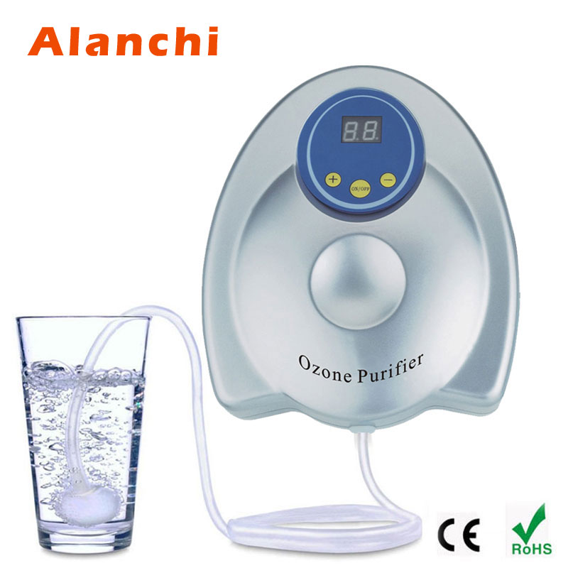 Alanchi Portable Air Purifier Home Ozone Generator For Vegetable Fruit Purify 220V/110V 400mg Aquarium Aerobic Sterilization 1pc new fruit and vegetable purifier yl a300 purifier sterilization disinfection machine 200 400mg h ozone