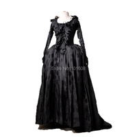 Tailored!Luxs Gold 18th Century Duchess Queen Marie Antoinette Court Victorian Gown Ball Reenactment dresses HL 228