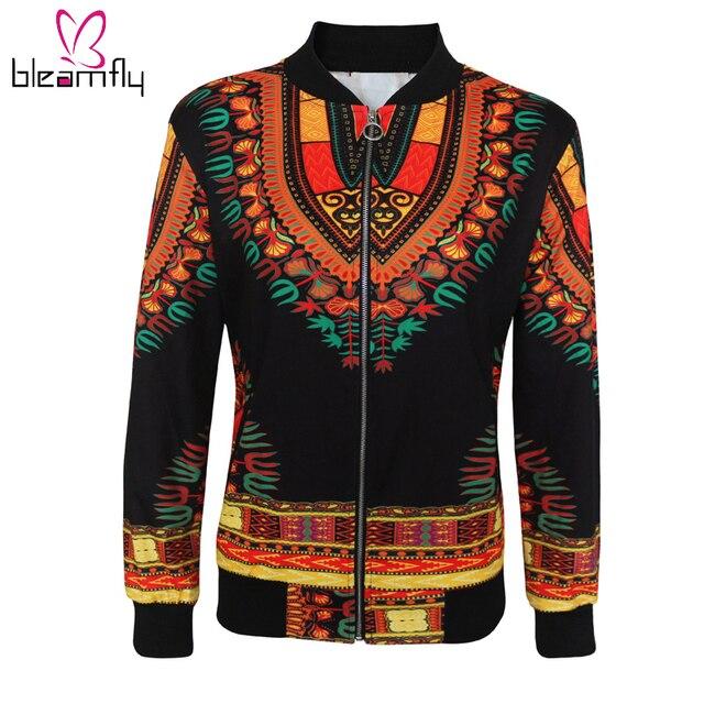 ea624cb2c744d Africain Imprimer Bomber Veste Manteaux Femmes Dashiki Veste Femme  Printemps Automne Outwear Vintage À Manches Longues