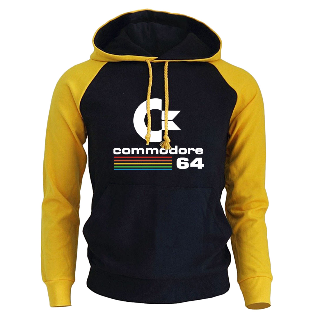 Commodore 64 Hoddies Men C64 SID Amiga Retro 8-bit Ultra Cool Design Mens Hooded Sweatshirts 2019 New Arrival Fashion Male Hoody