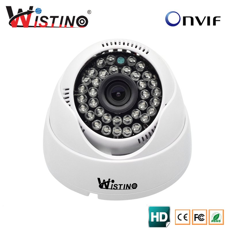Wistino HD 720P Indoor Dome IP Camera Security CCTV 1.0MP Surveillance ONVIF 2.0 P2P IR-Cut Filter Night Vision Free shipping 4pcs lot 960p indoor night version ir dome camera 4 in1 camera 3 6mm lens p2p onvif abs plastic housing