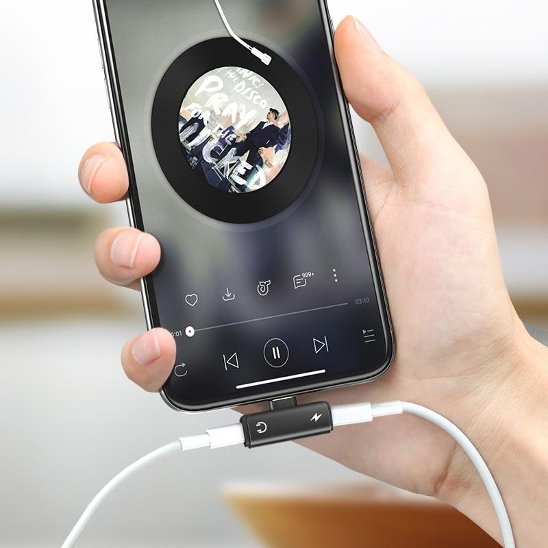 Adapter för iPhone XS Max XR 7 8 Plus En-till-två Prot bärbar - Reservdelar och tillbehör för mobiltelefoner - Foto 1