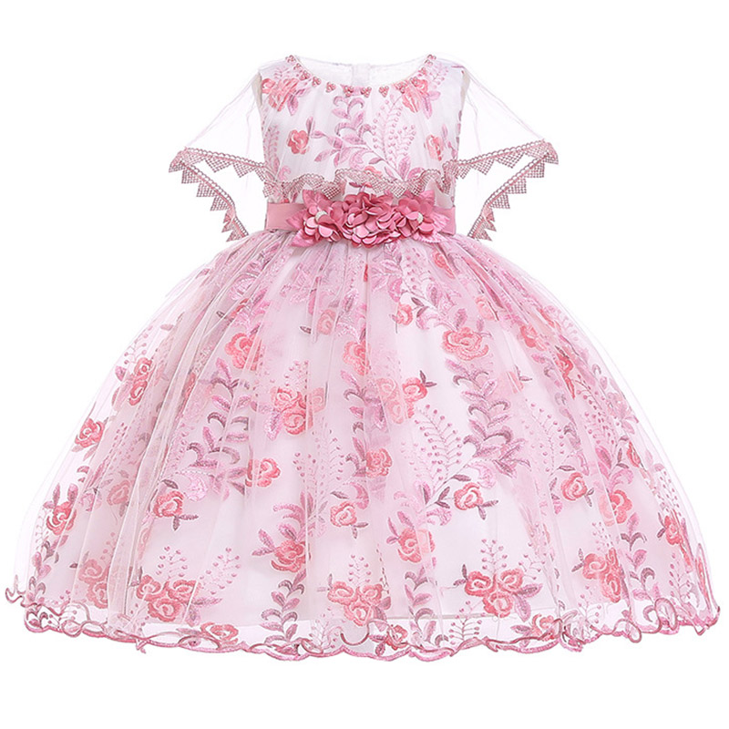 Flower     Girl     Dress   Embroidery beading   Girls   tutu Princess   Dresses   for Kids   Girls   Wedding Teens Party Vestidos Infantis Kid   Girls
