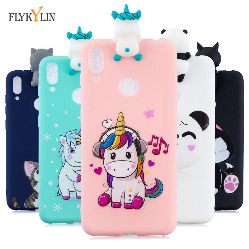 50e678463c5 For Coque Huawei Y6 2019 Cover For Fundas Huawei Y6 Y7 Pro Prime 2019 3D  Doll Toys Candy Soft TPU Silicone Phone Case Women Etui