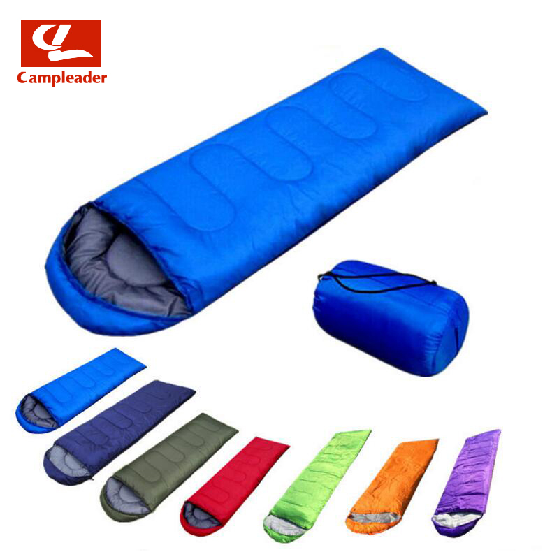 Outdoor Products Adult Three Seasons Envelope with Cap Sleeping Bag Spring Summer Autumn Portable Warm Sleeping