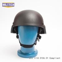 NIJ IIIA Black Mich 2000 Bullet Proof Helmet NIJ 3A Aramid Mich Helmet Kevlar Bulletproof Mich