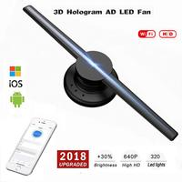LumiParty 85 265 В 42 см Wi Fi 320 светодиодный s 3D голографический проектор голограмма плеер светодиодный Дисплей вентилятор рекламы свет приложение У