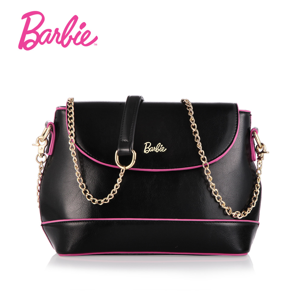 2017 Barbie Women's shoulder Bag sweet simple line style PU Leather ladies handbag female fashion Cross body Bags for women