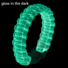Glow in the dark Paracord bracelet 550lb 4mm paracord bracelet parachute cord Military Survival Bracelet(China)