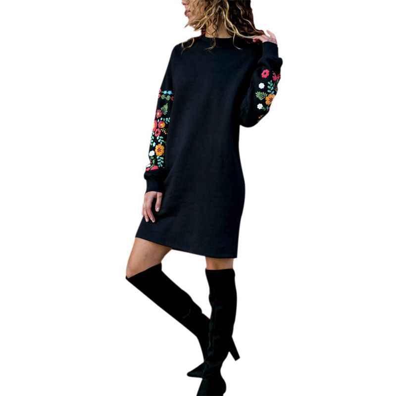 ฤดูใบไม้ร่วงฤดูหนาวเสื้อแขนยาวชุด 2019 เสื้อผ้าผู้หญิง O คอออกแบบชุดผู้หญิง