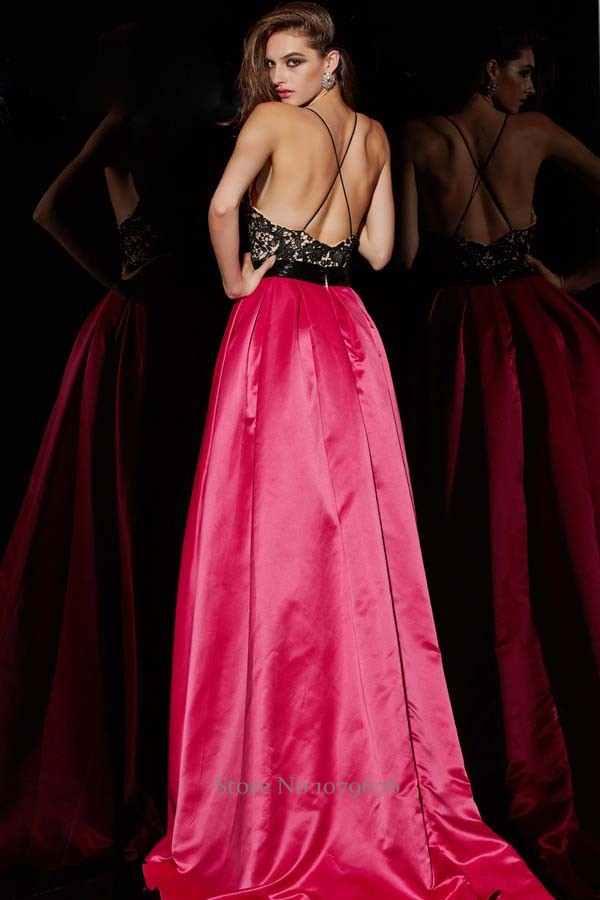 Fashion Sexy Hot Pink Lace Long Evening Dress Open Back Women Formal Dresses  Special Occasion Prom Party Gowns China Online-in Evening Dresses from  Weddings ... 564c6885d1e5