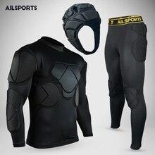 Дизайн, спортивная защита для безопасности, утолщенная Экипировка, футбольные Вратарские майки, футбольный Вратарский Шлем, налокотник, наколенник, мягкий протектор