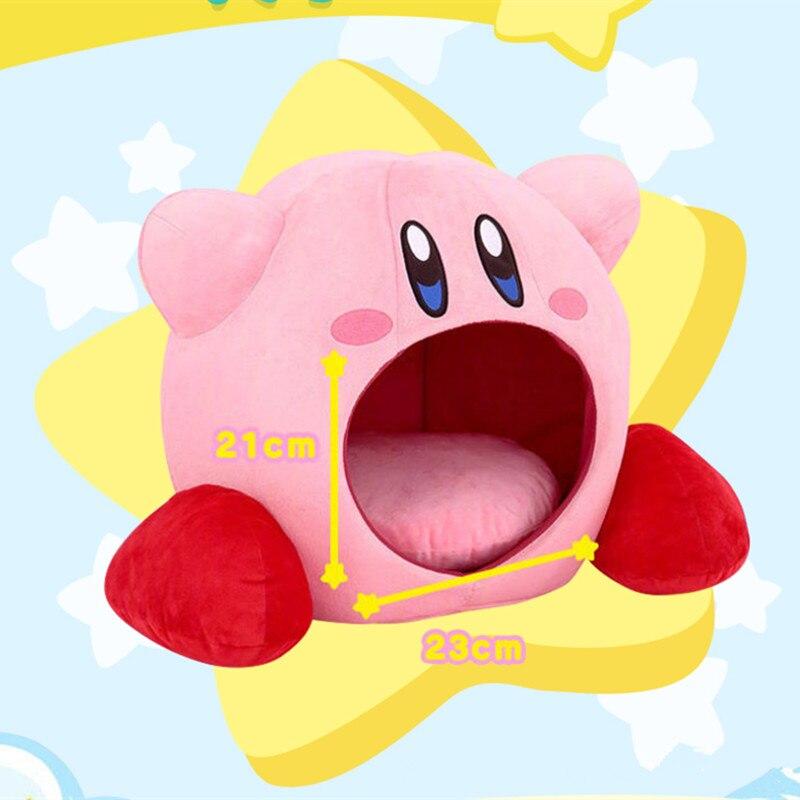 Japan Anime Kirby Bite Plush Pillow Cosplay Kirby Dream Land Sleep Pillows Pet Cage
