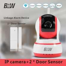 Onvif Infrarrojos Cámara de Seguridad WiFi + 2 Sensor de Puerta Ventana de Alarma Dispositivo de Vigilancia HD Cámara IP Inalámbrica 720 P BW013P