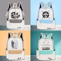 One Piece Backpacks Japan Anime My Neighbor Totoro NARUTO Tokyo Ghoul Cosplay Shoulder Bag Laptop Rucksack
