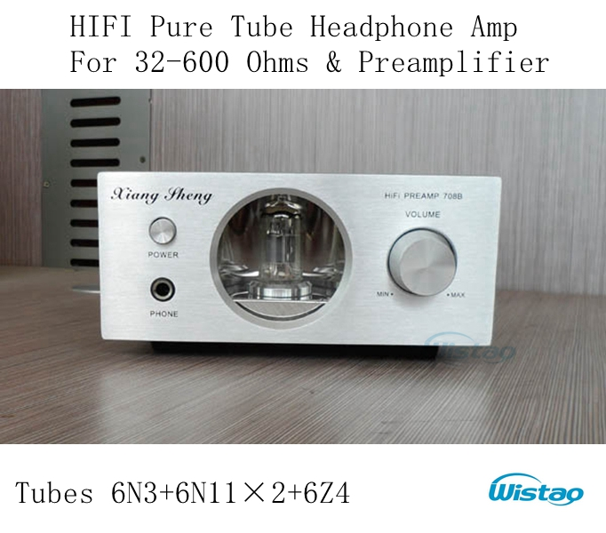 HIFI Tube Headphone Amplifier Wada Shigeho's Style 32 -600 Ohms and Preamplifier with 6N11 x 2 6N3 6Z4 AC 110-220V Silver Panel appj pa1502a tube headphone amplifier
