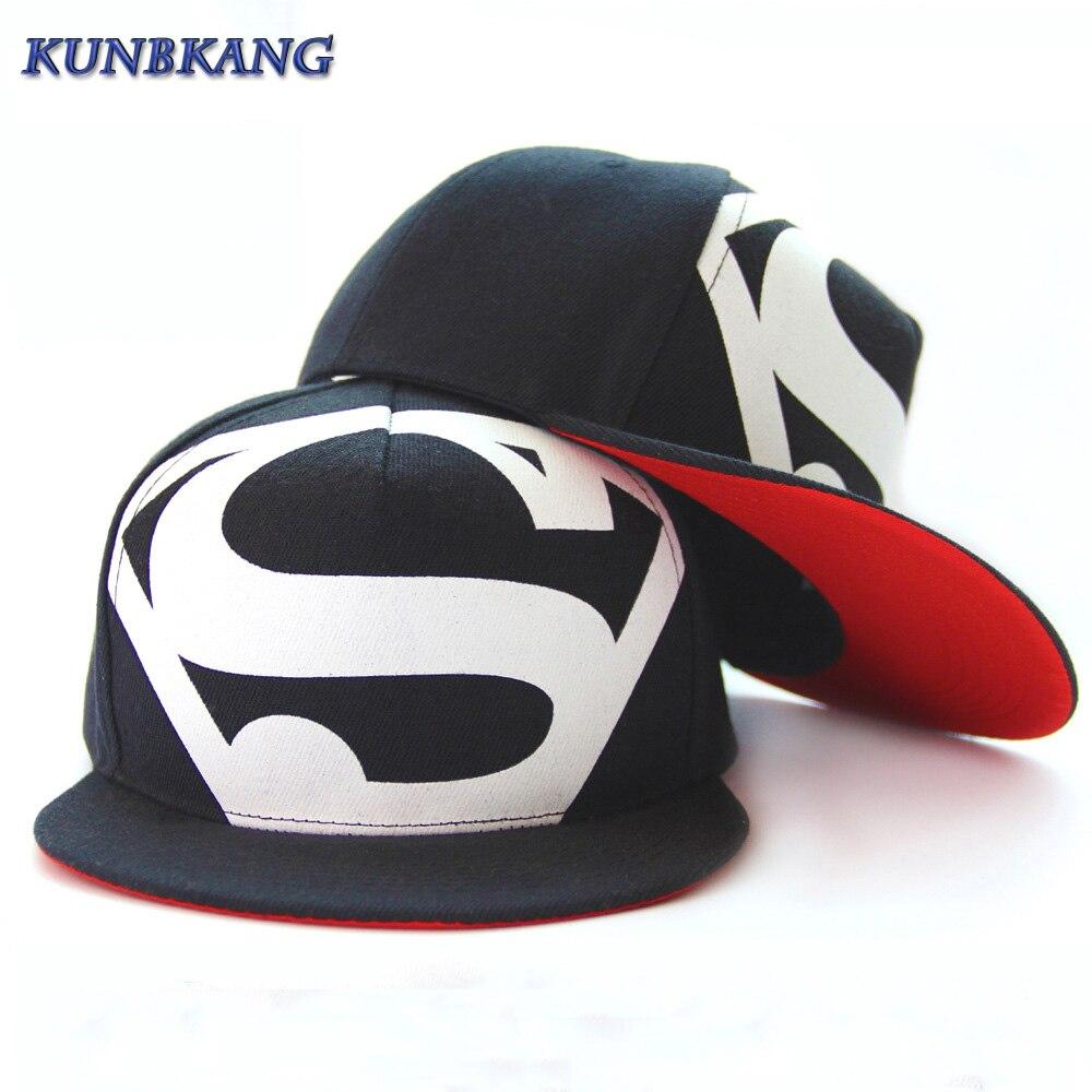 Prix pour Hot! nouveau Arrivent Mode Hip Hop Superman Snapback Caps Chapeaux Pour Hommes Femmes Été Décontracté En Plein Air Casquette de baseball Chapeau