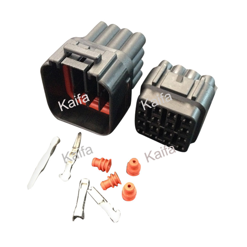 Yazaki 1 sets Kit 16 Pin Way  Waterproof Electrical Wire Connector Plug auto connectors black 50 sets 4 pin dj3041y 1 6 11 21 deutsch connectors dt04 4p dt06 4s automobile waterproof wire electrical connector plug