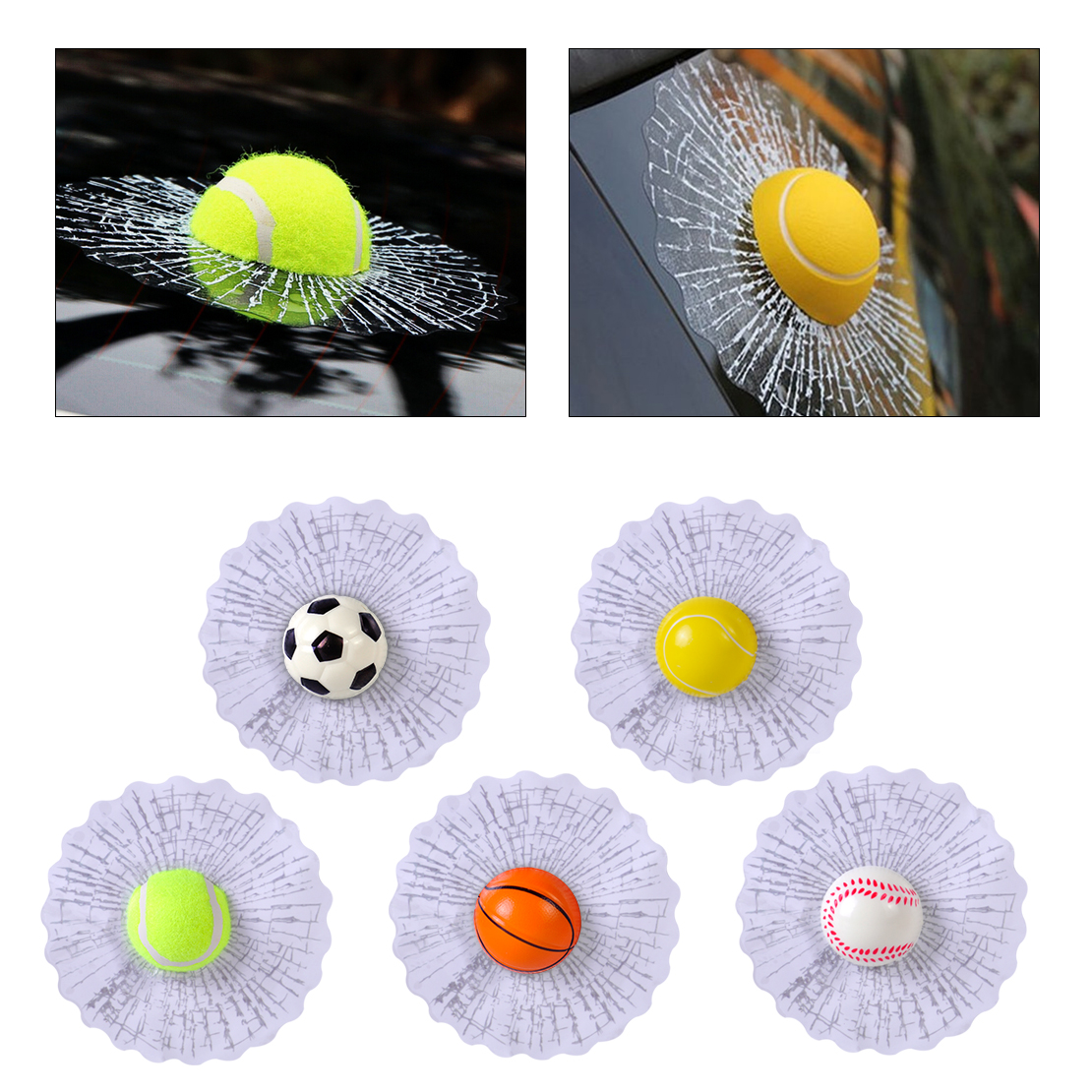 beler New Creative Funny 3D Hit Window Car Sticker Auto Windshield Glass Surface Decoration Car Styling Accessories Stickers
