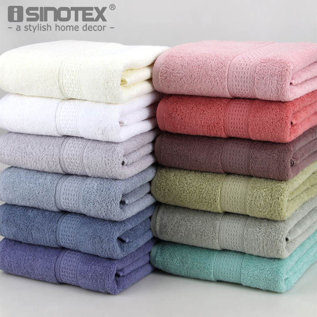 1PCS Cotton Absorbent Bath Towel Large 70*140cm Solid Quick-Drying 17 Colors Soft Beach  ...