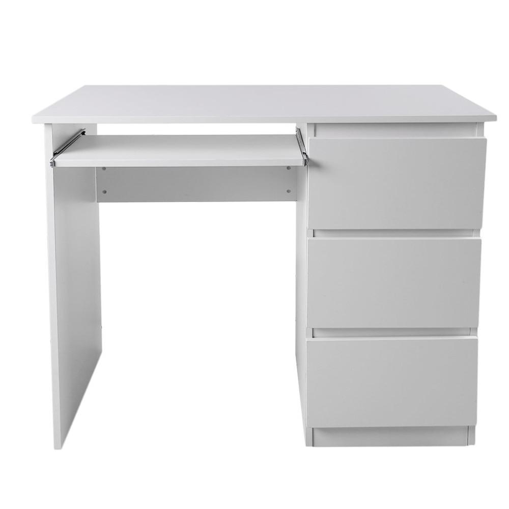 Table d'ordinateur bureau PC Table maison bureau Table travail bureau poste de travail mobilier de bureau avec plateau clavier blanc DX-109