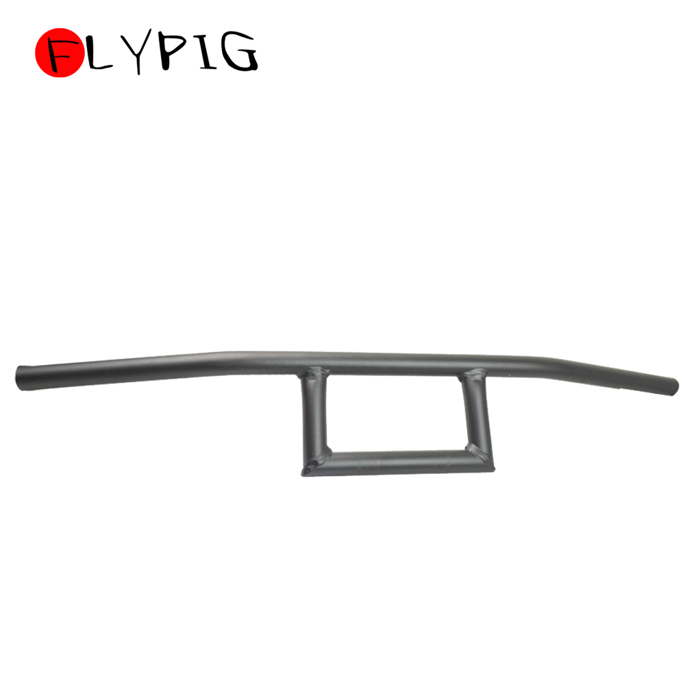 Motorcycle Handlebar 7/8 Black for Box Window Attack Style Cruiser Cafe Racer