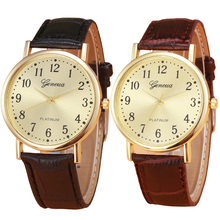 Paradise 2016 classic Woman Mens Retro Design PU Leather Band Analog Alloy Quartz Wrist Watch  Free Shipping July22
