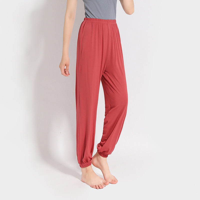 62c0110275 Plus Soft Sleep Bottoms Home Pants for Women Pajama Pants Modal Summer  Autumn Lounge Sleepwear-in Sleep Bottoms from Underwear & Sleepwears