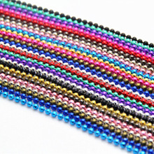 Wholesale Pick 13Colors 10Strand Ball Beads Chain Summer Jewelry Necklace 2mm Bead Connector 70cm Necklaces & Pendants B00471