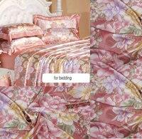 Новинка; Бесплатная доставка; оптовая продажа широкого ширина 240 см Отпечатано Pure шелковый атлас Ткань для постельных принадлежностей наво...