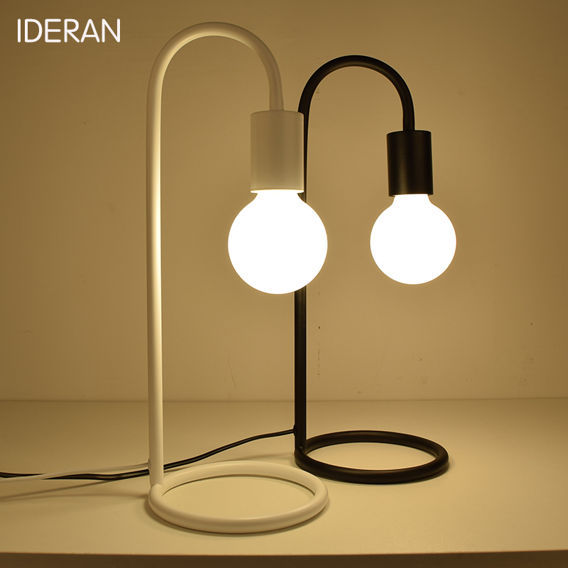 Low Table Lamp: IDERAN 2 color iron frame bedroom table lamp modern iron art book light table  lamp decorative table lamp protection eyesight,Lighting