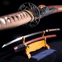 katana The sword samurai The blade of steel soporte china self defense japonais A machete Sharp The cutting tool Full tang FANDI