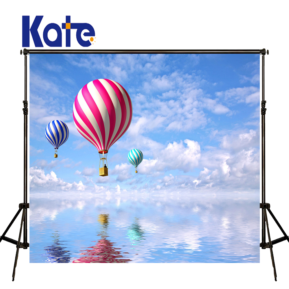 Kate Children Photo Background Hot Air Balloon Background Blue Sky And Cloud Photography Background Large Size Photo For Studio photo background blue sky white clound photography backdrops newborn hot air balloon fly studio photo backdrop