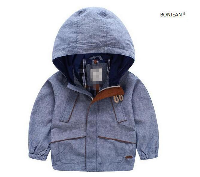 ФОТО 231432453 Retail 2016 New Autumn Baby Boy Jacket Solid Hooded Fashion Boy Coat Zipper Pockets Boy Outerwear Kids Clothes