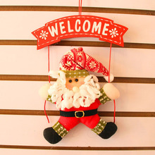 Santa Claus Snowman Tree Door Christmas Decoration For Home Ornament Decor Hanging Pendant Christmas Gift