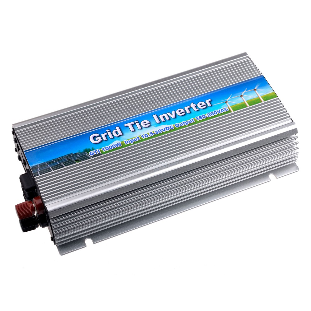 Grid Tie Inverter 1000W DC10.5-30V to AC110V(90-140VAC) Pure Sine Wave Inverter for 18V/36cells Solar Panel Send from USA 600w grid tie inverter lcd 110v pure sine wave dc to ac solar power inverter mppt 10 8v to 30v or 22v to 60v input high quality