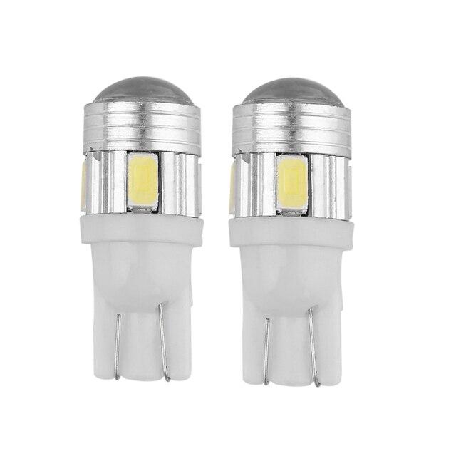 ICOCO 2 stks T10 5630 6SMD Hittebestendige Gehard Glas LED Sterke ...
