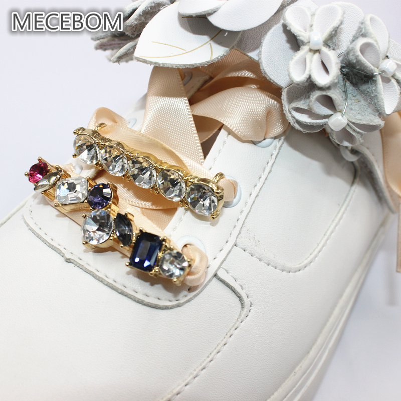 1 piece 2018 Crystal Shoelace for woman shoes DIY personality Flat Silk  Ribbon Sneaker Shoelaces Pearl Metal decoration 215w-in Shoelaces from Shoes  on ... 2f331f73c
