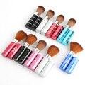 1 unids portátil Pro Leopard belleza maquillaje cosmético Cheek Face Powder Foundation Brush