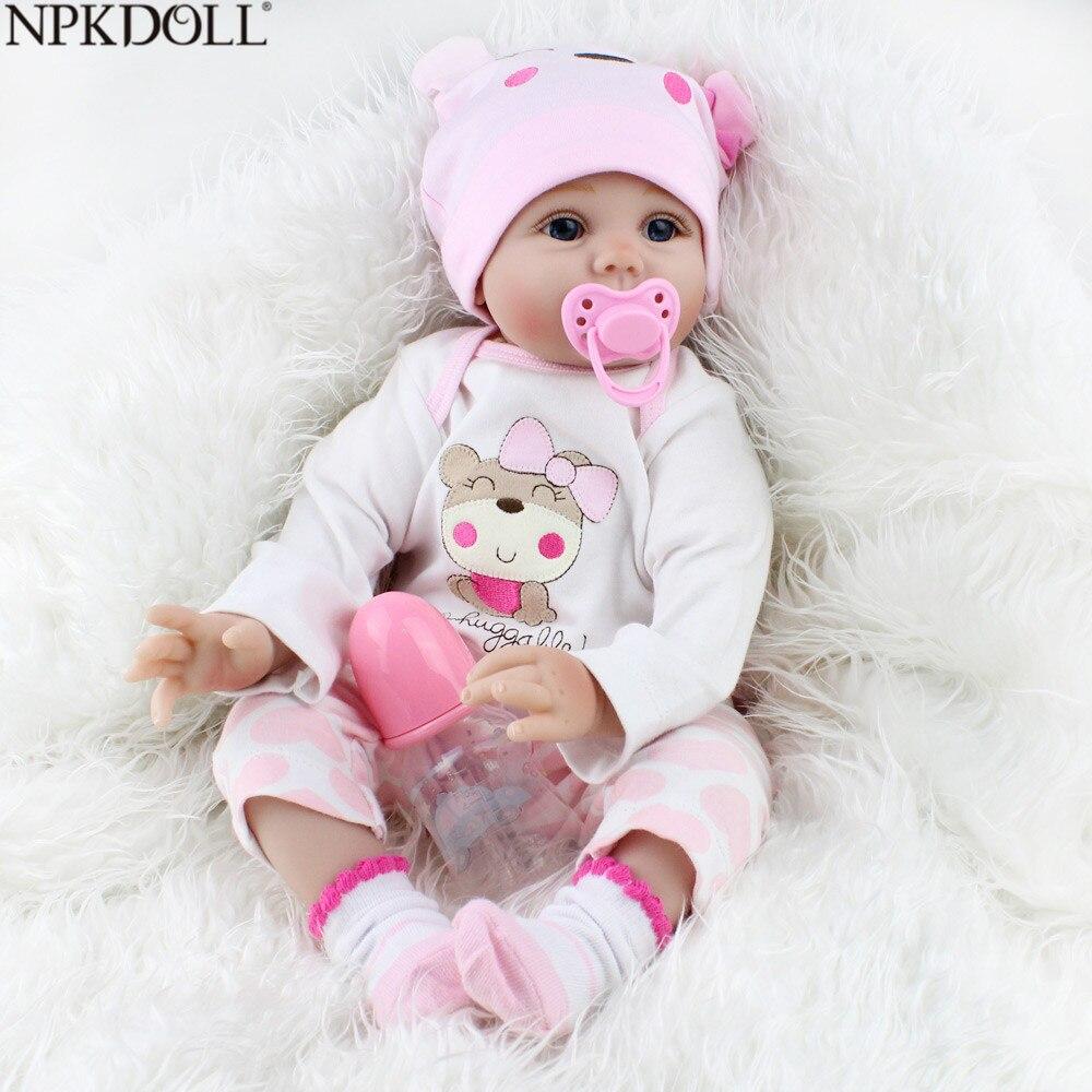 NPKDOLL Reborn bébé poupées enfant en bas âge 55 cm Silicone poupée enfant jouets pour enfants 3 ans filles belle princesse jouets faits à la main