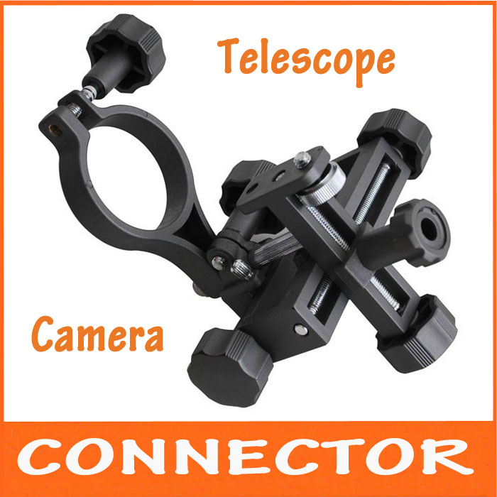 2016 New Black Connector Adapter for Digital Camera and Astronomical Monocular Telescope Universal Bracket Astrophotography universal cell phone holder mount bracket adapter clip for camera tripod telescope adapter model c
