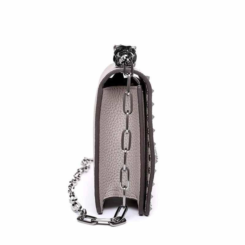 rouge Nouvelle Cuir Foncé Style kaki Simple En Rivet Hanriver Sexy Mode De Et Noir Sac blanc vert D'épaule Explosif Couche Élégant Haute Chaîne 2018 R4wqp