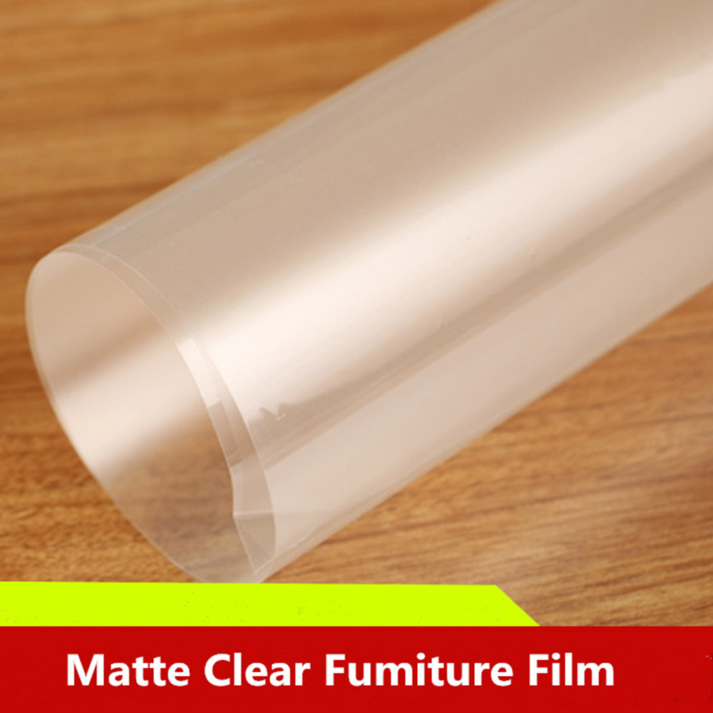2mil Matte Furniture Protective Film Transparent Film Self adhesive Stickers Wrap Table for Kitchen/Office Length: 1M