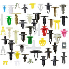 200PCS Mixed Auto Fastener Vehicle Car Bumper Clips Retainer Fastener Rivet Door Panel Fender Liner Universal Fit For All Car