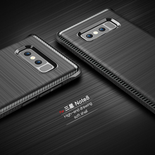 2017 New For Samsung Galaxy Note 8 Case Thin Matte Carbon Fiber Brushed TPU Silicone Cover Samsung Note 8 Shockproof Back Coque
