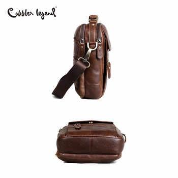 Cobbler Legend Men Messenger Bags Genuine Leather Handbag Shoulder Bag Famous Brand Business Crossbody Bag Bolsa Masculina