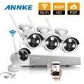 ANNKE 4CH 960 P HD de Rede Sem Fio IP CCTV Sistema de Câmera de Segurança Ao Ar Livre Indoor 4 pcs wifi câmeras IP Vídeo kits de vigilância